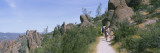 Hikers on a Trail, Condor Trail, Pinnacles State Park, California, USA Wall Decal by  Panoramic Images