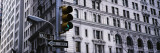 Traffic Light in Front of a Building, Wall Street, New York, USA Wall Decal by Panoramic Images