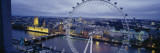 Ferris Wheel in a City, Millennium Wheel, London, England Wall Decal by  Panoramic Images