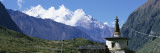 Manaslu Trek, Chorten, View of a Temple at the Base of a Mountain, Nepal Wall Decal by  Panoramic Images