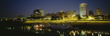 Buildings Lit Up at Dusk, Memphis, Tennessee, USA Wall Decal by  Panoramic Images