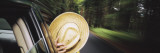 Close-up of a Person Covering Face with a Straw Hat, Washington State, USA Wall Decal by  Panoramic Images