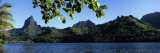Mountain Range Along the Ocean, Opunohu Bay, Moorea, French Polynesia Wall Decal by  Panoramic Images