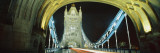 Bridge Lit Up at Night, Tower Bridge, London, England Wall Decal by Panoramic Images