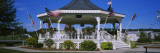 American Flags Swaying Around a Gazebo, Honeoye, Richmond, New York State, USA Wall Decal by  Panoramic Images
