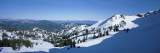 High Angle View of Snow Covered Mountains, Lake Tahoe, Nevada, USA Wall Decal by  Panoramic Images