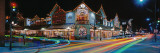Buildings Lit Up at Night, Banff, Alberta, Canada Wall Decal by Panoramic Images
