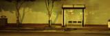 Bus Stop at Night, San Francisco, California, USA Kalkomania ścienna autor Panoramic Images
