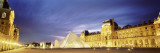 Light Illuminated in the Museum, Louvre Pyramid, Paris, France Wall Decal by  Panoramic Images
