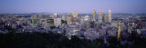 Buildings Lit Up at Dusk, Montreal, Quebec, Canada Wall Decal by Panoramic Images