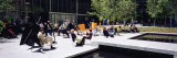 Group of People Sitting Outside a Museum, Museum of Modern Art, New York City, NY, USA Wall Decal by  Panoramic Images
