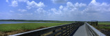 Clouded Sky over a Wooden Bridge, Myakka River State Park, Sarasota, Florida, USA Wall Decal by  Panoramic Images