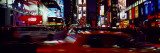Buildings Lit Up at Night, New York, USA Wall Decal by  Panoramic Images