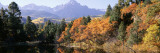 Waterfront and Mountain Range, Uncompahgre National Forest, Colorado, USA Wall Decal by  Panoramic Images