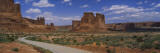 Empty Road Running through a National Park, Arches National Park, Utah, USA Wall Decal by  Panoramic Images