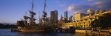 Sailing Ship Moored at a Dock, Campbell's Cove, Sydney, New South Wales, Australia Wall Decal by  Panoramic Images