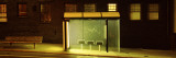 Bus Stop at Night, San Francisco, California, USA Wall Decal by Panoramic Images