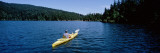 Man on a Kayak in a Lake, Orcas Island, Washington State, USA Wall Decal by  Panoramic Images