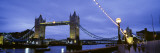 Tower Bridge at Night, London, England, United Kingdom Wall Decal by Panoramic Images