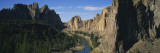River Passing through a Rocky Landscape, Ochoco River, Smith Rocks State Park, Oregon, USA Wall Decal by  Panoramic Images