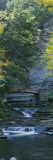 Bridge near a Waterfall, Stony Brook State Park, Dansville, New York State, USA Wall Decal by  Panoramic Images