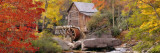 Hut in a Forest, St. Park, Glade Creek Grist Mill Babcock, West Virginia, USA Wall Decal by Panoramic Images