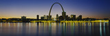 City Lit Up at Night, Gateway Arch, Mississippi River, St. Louis, Missouri, USA Wall Decal by  Panoramic Images