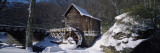 House in a Snow Covered Landscape, Glade Creek, Grist Mill Babcock State Park, West Virginia, USA Wall Decal by  Panoramic Images