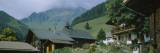 Houses on a Mountain, Muren, Switzerland Wall Decal by  Panoramic Images