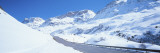 Snow Covered Mountains on Both Sides of a Road, St. Moritz, Graubunden, Switzerland Wall Decal by Panoramic Images 