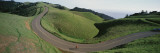 Person Cycling on the Road, Bolinas Ridge, Marin County, California, USA Wall Decal by  Panoramic Images