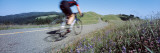 Man Riding a Bicycle, Bolinas Ridge, Marin County, California, USA Wall Decal by  Panoramic Images