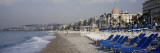 Empty Lounge Chairs on the Beach, Nice, French Riviera, France Wall Decal by  Panoramic Images
