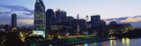 Buildings Lit Up at Dusk, Nashville, Tennessee, USA Wall Decal by  Panoramic Images