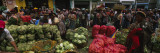 Group of People in a Vegetable Market, Almolonga, Guatemala Wall Decal by  Panoramic Images
