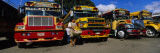 Buses Parked in a Row at a Bus Station, Antigua, Guatemala Wall Decal by  Panoramic Images