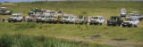 Motorized Safari on a Field, Ngorongoro Crater, Tanzania, Africa Wall Decal by  Panoramic Images