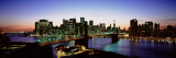 High Angle View of Brooklyn Bridge, New York City, New York State, USA Wall Decal by  Panoramic Images