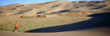 Woman Running in the Desert, Great Sand Dunes National Monument, Colorado, USA Wall Decal by  Panoramic Images