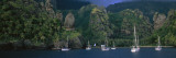 Yachts in a Bay, Marquesas Anchorage, French Polynesia Wall Decal by  Panoramic Images