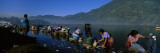 Group of Women Washing Clothes in a Lake, Lake Atitlan, Santiago Atitlan, Guatemala Wall Decal by  Panoramic Images
