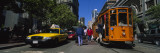 Cars and Cable Car Moving on a Road, San Francisco, California, USA Wall Decal by  Panoramic Images