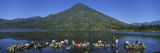 Women Washing Clothes in a Lake, Santiago, Lake Atitlan, Guatemala Wall Decal by  Panoramic Images
