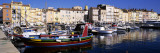 Boats Moored at a Dock, St. Tropez, Provence, France Wall Decal by  Panoramic Images
