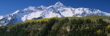 Snowcapped Mountains, Rocky Mountains, Telluride, Colorado, USA Wall Decal by  Panoramic Images