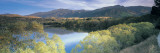 Reflection of Mountains in Water, Lake Hayes, South Island New Zealand, New Zealand Wall Decal by  Panoramic Images