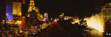 Buildings Lit Up at Night, Las Vegas, Nevada, USA Autocollant par  Panoramic Images