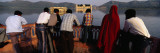 Tourists Looking at a Palace in a Lake, Jal Mahal, Jaipur, Rajasthan, India Wall Decal by  Panoramic Images