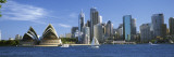 Sydney Opera House and City, Sydney Harbor, Sydney, New South Wales, Australia Wall Decal by Panoramic Images 