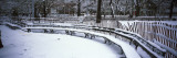 Snowcapped Benches in a Park, Washington Square Park, Manhattan, New York, USA Autocollant mural par Panoramic Images